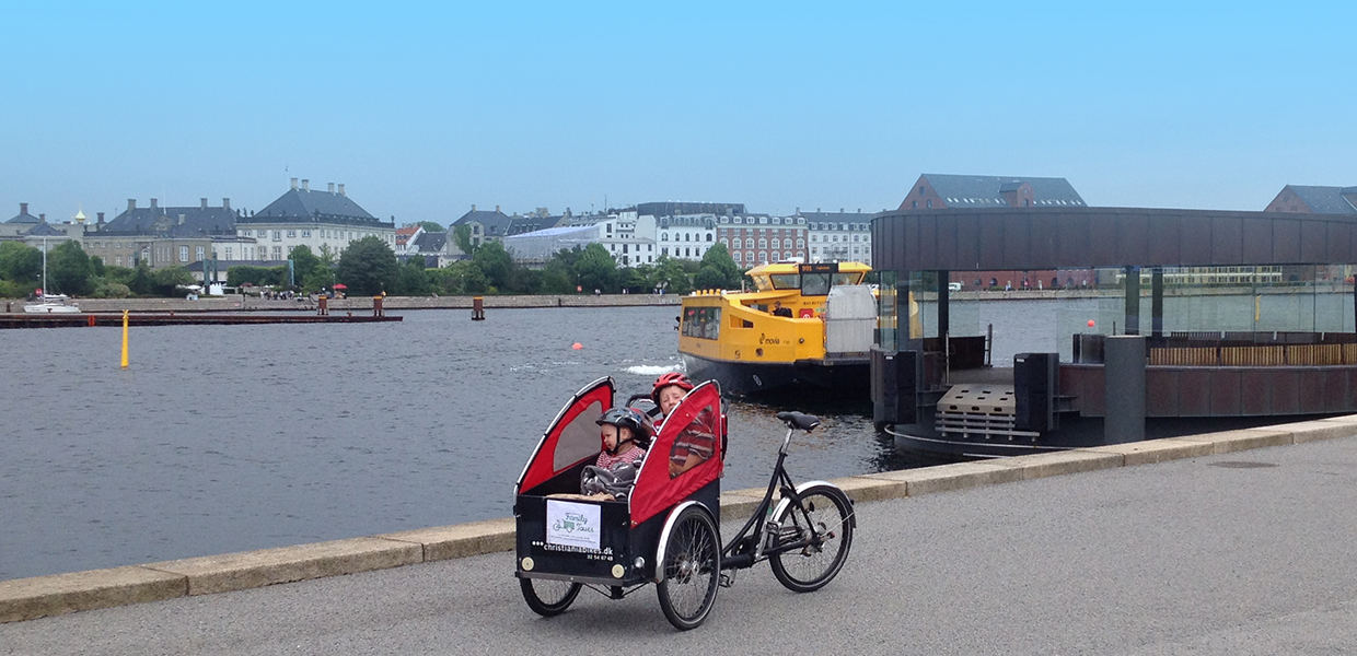 Go with a Cargo bike on a bus boat!