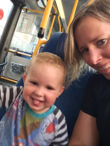 public transport copenhagen kid mum fun on bus